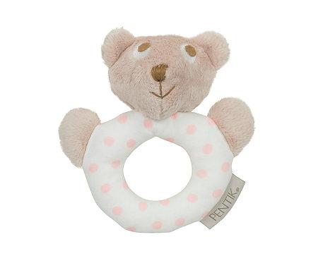 Погремушка Мишка Teddy розовый