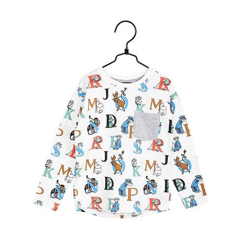 Moomin Рубашка Alphabet Off-white