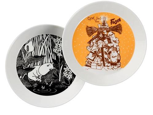 """Комплект тарелок, 2 шт.: """"Fazer and Moomintroll"""" 19 см. 2014"""