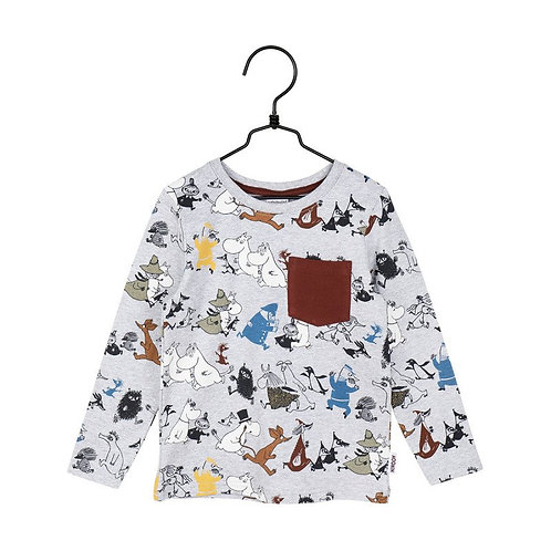 Moomin Рубашка Racing серый / бордовый