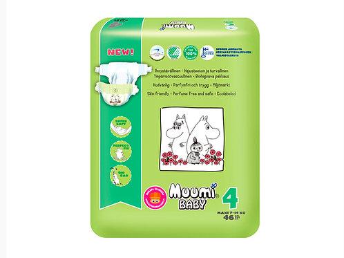 Muumi 4, Муми-Подгузники для детей Maxi, 7-14 кг.,  46 шт.