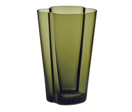 Ваза Коллекция Alvar Aalto 220 мм, зеленый мох