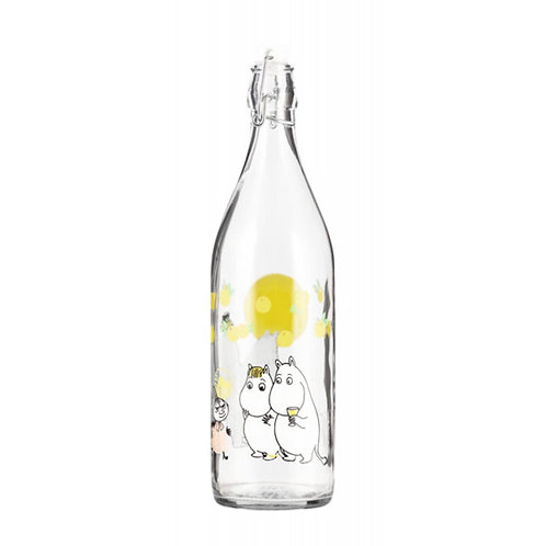 Moomin- стеклянная бутылка спробкой 1л. - ВЕЧЕРИНКА