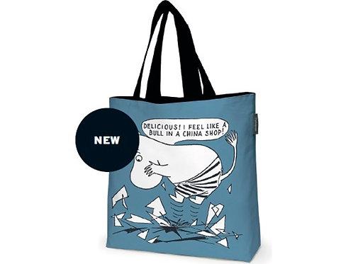 Большая сумка Moomin на саржевой подкладке / BLUE / размер 45X42 см.