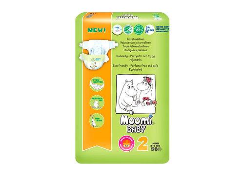 Muumi 2, подгузники для детей Mini, 3–6 кг, 58 шт.
