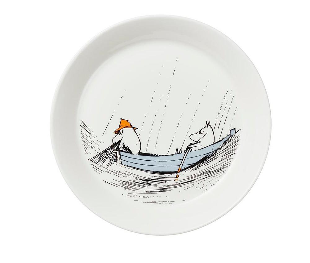 тарелка с Муми-папой и Муми-троллем