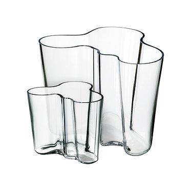 Подарочный набор Вазы Аалто 95 мм и 160 мм прозрачное стекло