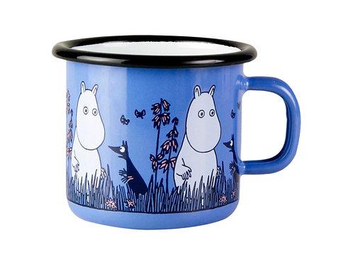 Moomin Кружка эмалированная Moomin Friends, 250 мл, Муми-Тролль