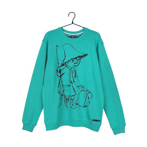 Moomin Толстовка Sketch Снусмумрик зеленая