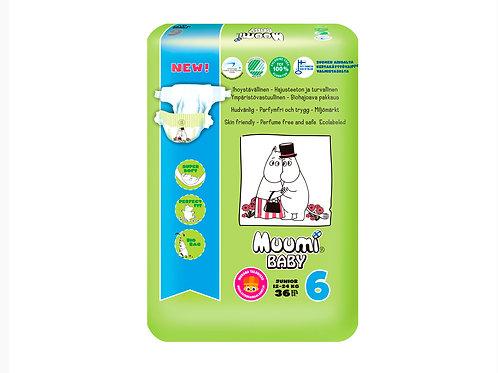 Muumi 6, Муми-Подгузники для детей Junior, 12-24 кг., 36 шт.