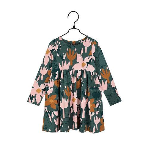 Moomin Платье Blooming зеленое