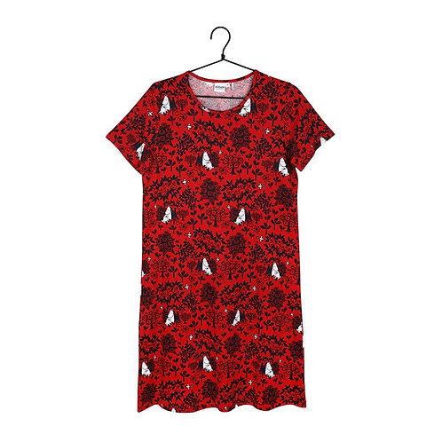 Moomin Ночная рубашка Berry с коротким рукавом красная