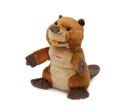 Мягкая игрушка на руку Trudi Бобер, 25 сантиметров