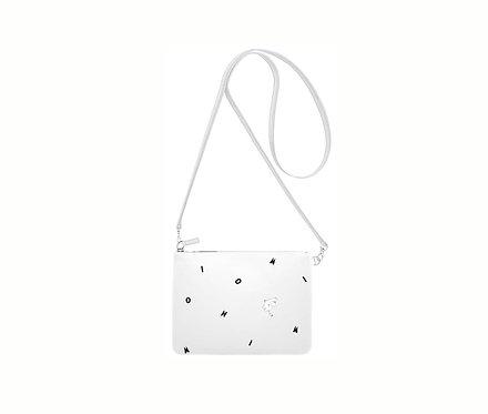 Premium Collection. Кожанная сумочка- WHITE ICON