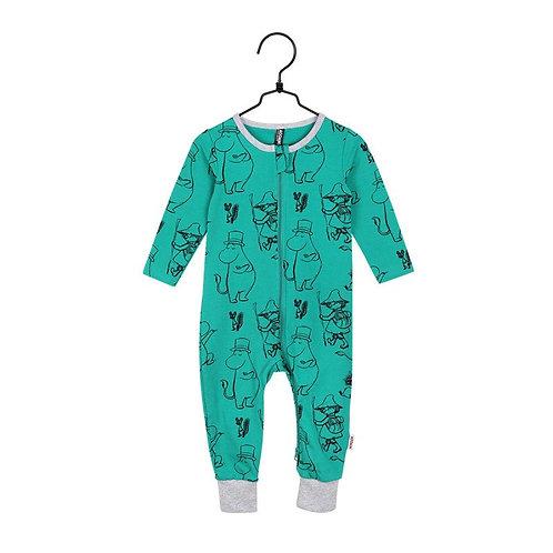 Moomin Пижама Pen Stroke зеленая