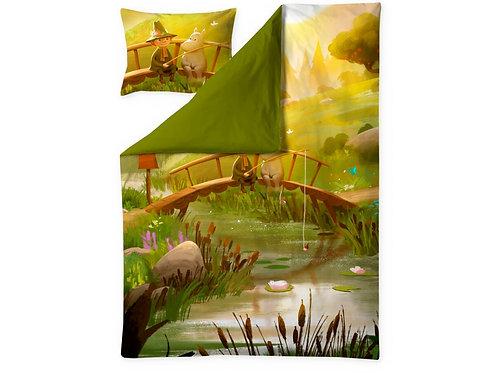 Комплект постельного бельяMoomin Valley, Муми-Дол ВЕСНА! цветной
