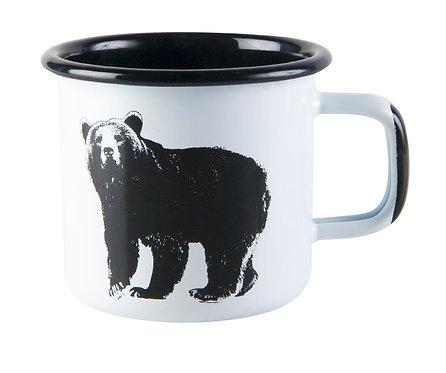 Эмалированная кружка Muurla, Серия NORDIC, Медведь, 0,37 л.