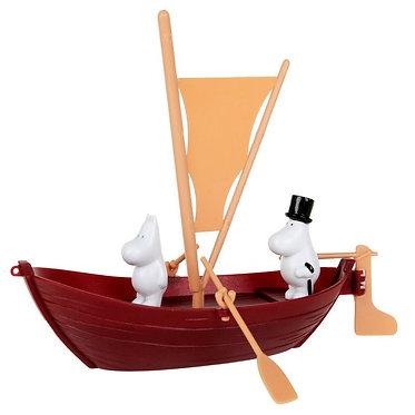 Лодка Муми-папы с парусом, 2 персонажа в комплекте.