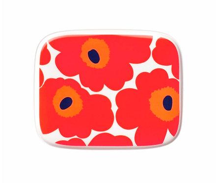 Тарелка прямоугольная Marimekko Unikko Red (Красные Маки)