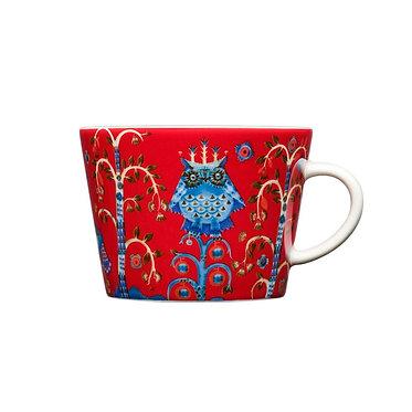 Чашка для кофе Taika, каппучино 0,2 л красная