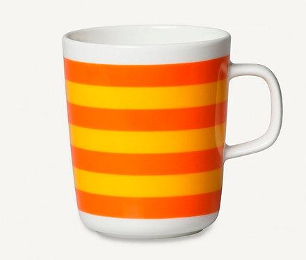 Кружка Marimekko Oiva/Tasaraita, желтое/оранжевоео,25 л.