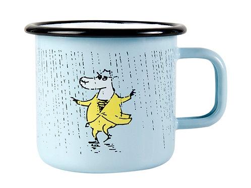 """Moomin Кружка эмалированная """"Дождь"""",370 мл."""