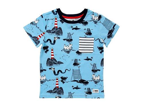 Муми футболка. В море.