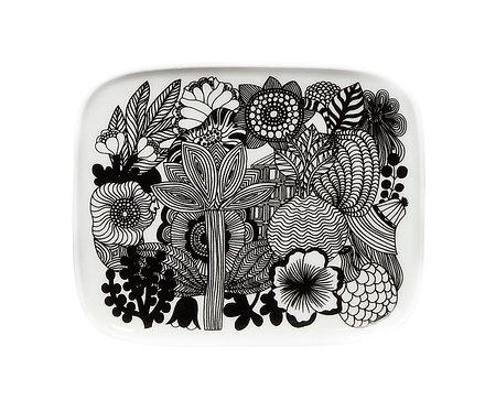 Тарелка прямоугольная Marimekko Siirtolapuutarha Black / White