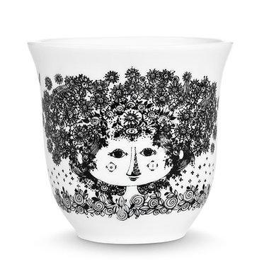 Термо-чашка с романтическим рисунком Cecilia черная