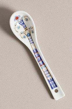 Керамическая ложка 16см Белая