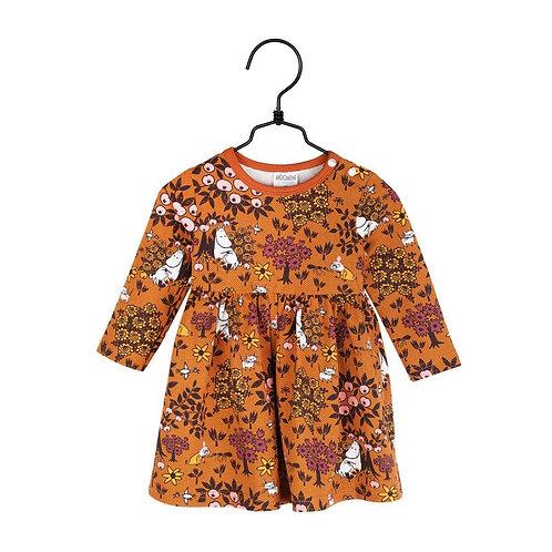 Moomin Платье боди Ягода мальва, коричневое