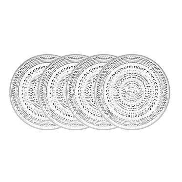 Kastehelmi Набор тарелок170 мм., 4 шт. прозрачные