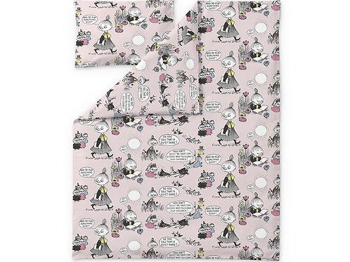 Комплект постельного белья MOOMIN FRIENDS, розовый