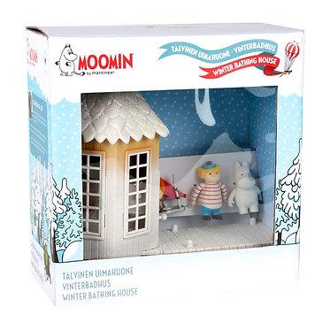 Moomin Морозная купальня и 3 фигурки.