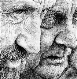 Photo of two old people