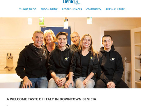 Benicia Magazine - A Welcome Taste of Italy in Downtown Benicia