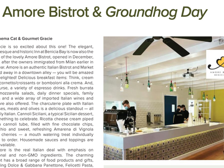 Benicia Magazine Features Amore Bistrot