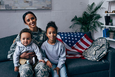african american mother in military unif