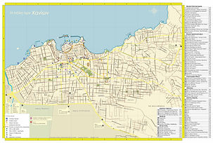 City of Chania map
