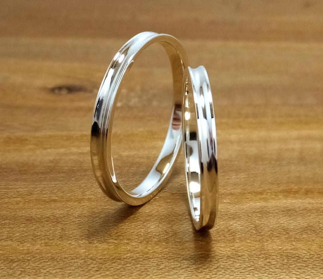 genchou design 手作り結婚指輪〈wadachi/わだち〉 Pt900 鏡面仕上げ
