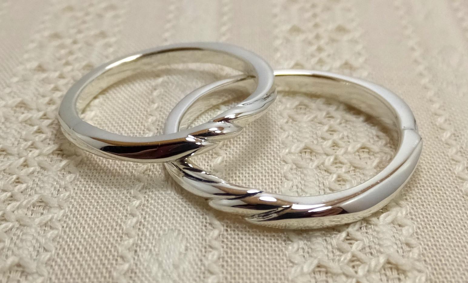 genchou design 手作り結婚指輪〈tsubame/ツバメ〉 Pt 鏡面仕上げ