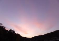 蔵からの夕景