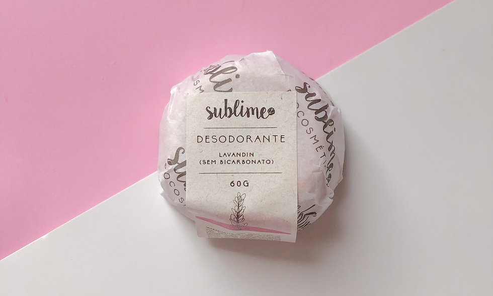 desodorante sólido de lavandin e alecrim 60g