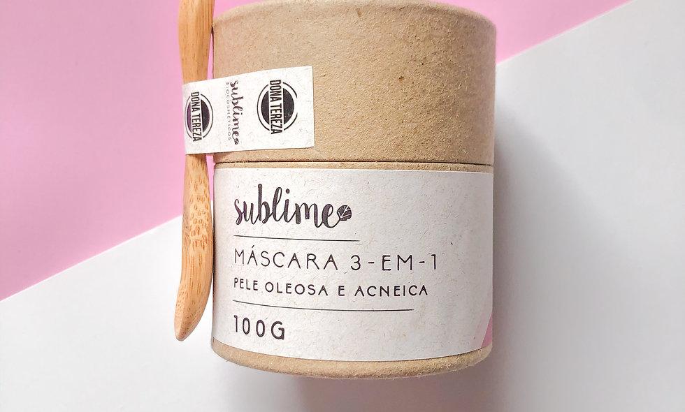 máscara 3-em-1 pele oleosa e acneica 100g