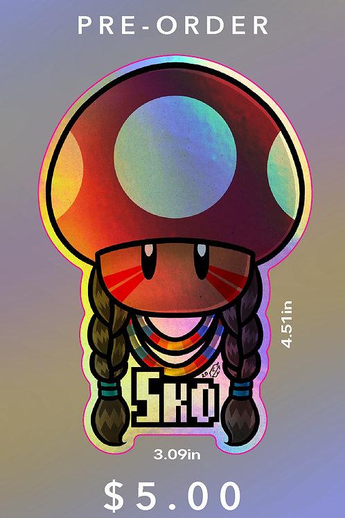 Sko Mushroom HOLOGRAPHIC Sticker