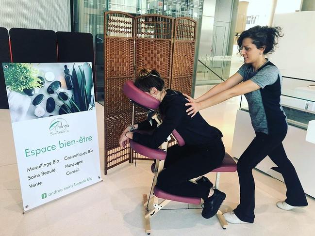 Massage assis chez EDF Lyon