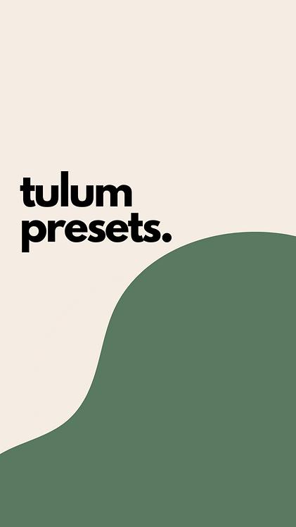 TULUM COLLECTION.