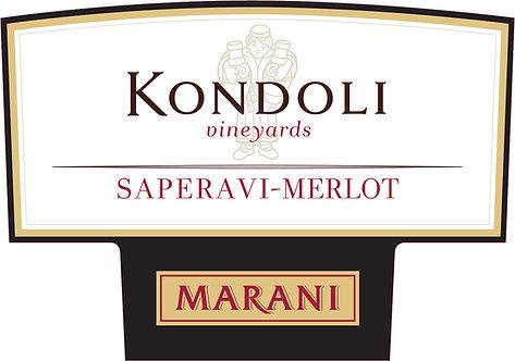 Marani Kondoli Saperavi-Merlot - Dry - Saperavi 50%, Merlot 50%