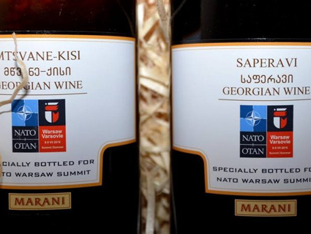 Georgian wine specially bottled for NATO Summit in Warsaw