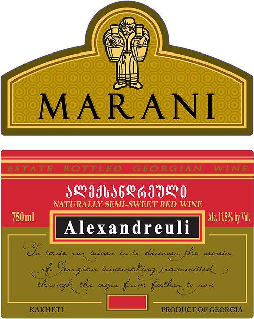 Marani Alexandreuli - Semi-Sweet - Alexandreuli 50%, Mujuretuli 50%